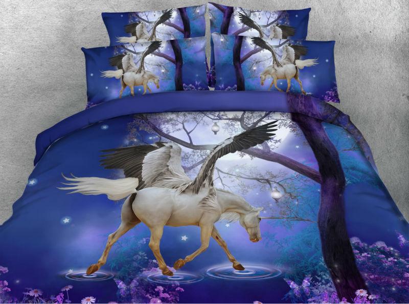 Bed Cover 3D Kuda Terbang Pegasus